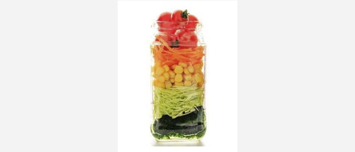 Easy green salads recipes with pictures - Carrot,Corn,Tomato & Broccoli Salad in a Jar