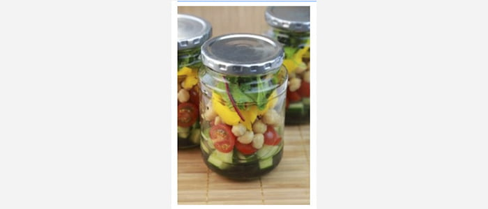 Easy green salads recipes with pictures - Chickpeas, Tomato & Peppers Salad in aJar