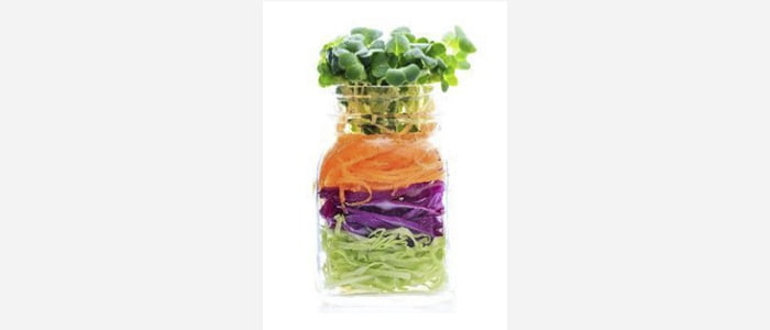 Easy green salads recipes with pictures - Watercress,Cabbage & Carrot Salad in a Jar