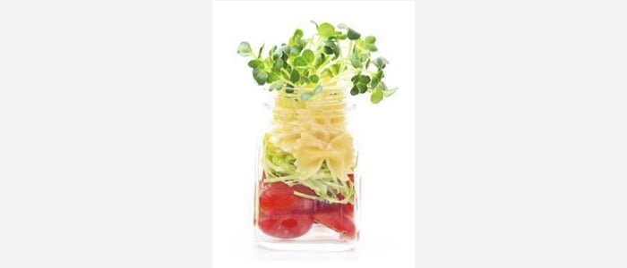 Easy green salads recipes with pictures - Watercress,Tomato & Cabbage Salad in a Jar