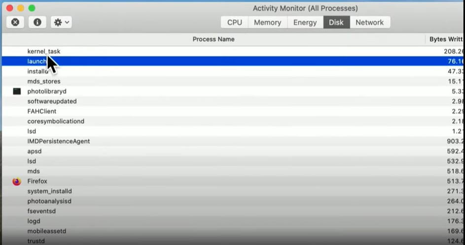 Browse for information usingActivity Monitor on Mac