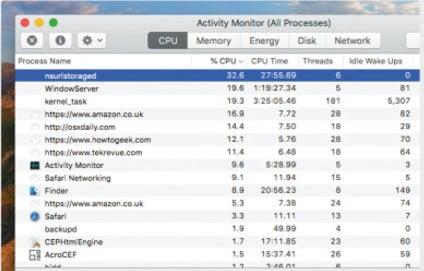 Activity Monitor on Mac 3