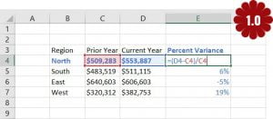 calculate percentage in Excel 5
