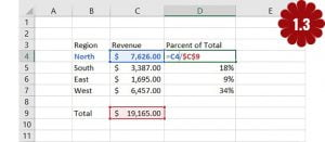 calculate percentage in Excel 3