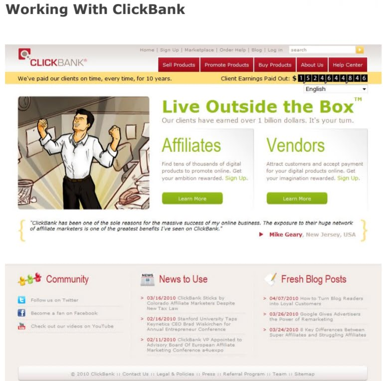 Affiliate Marketing with Clickbank 8