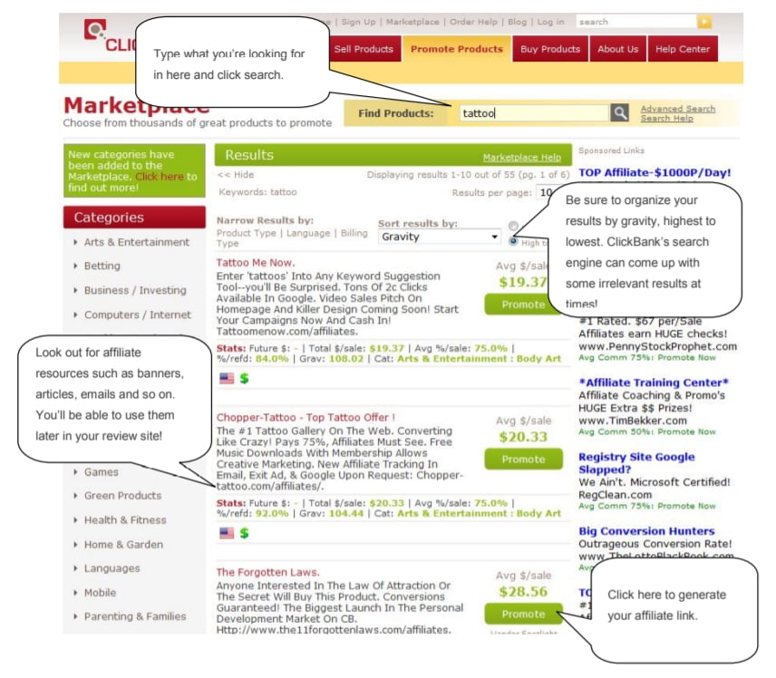 Affiliate Marketing with Clickbank 7
