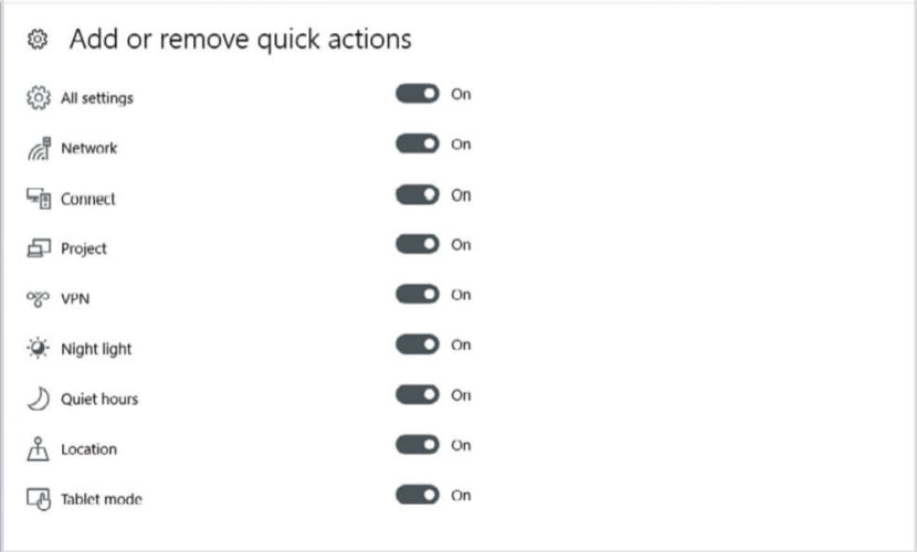 action center in windows 10 - 1
