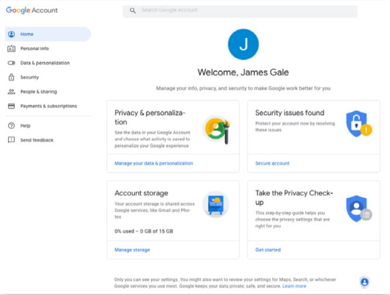 Set Up for Google Account 4