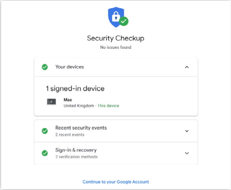 Set Up for Google Account 2