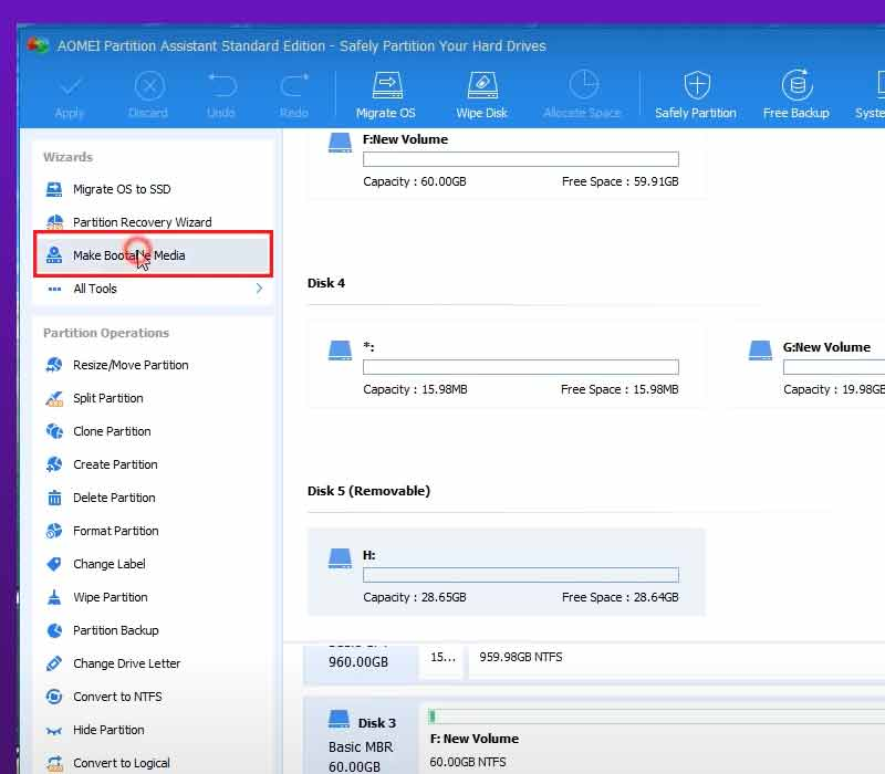 AOMEI-Partition-Assistant-options  02 Dual Boot Windows 10 System