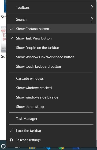 Make windows 10 look like windows 7 cortona 1