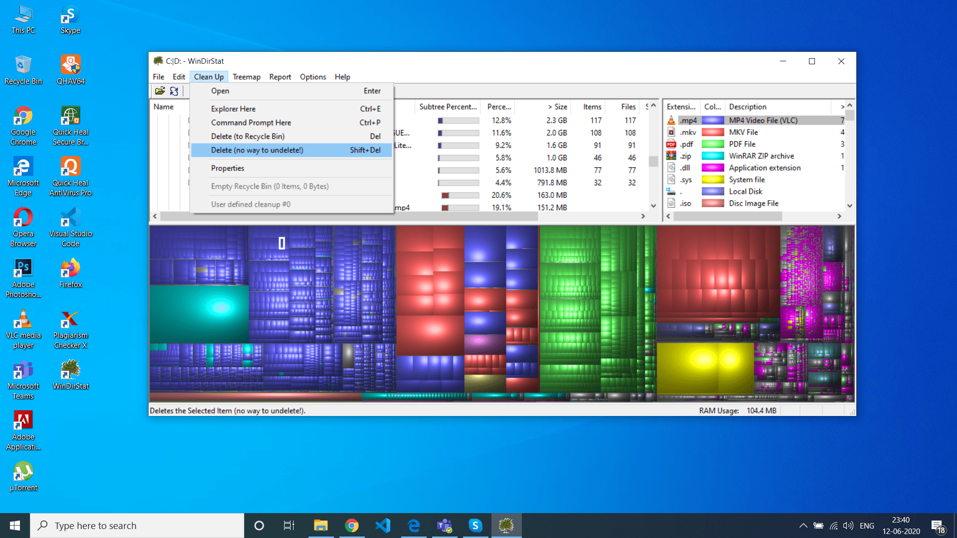 18 Cleaning up the disk in Windows 10