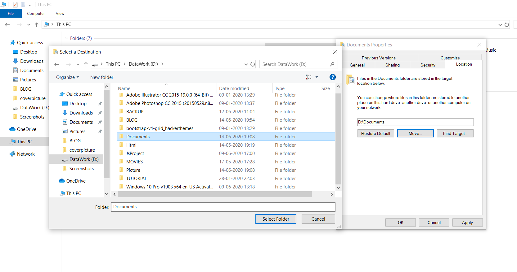 1 Cleaning up the disk in Windows 10