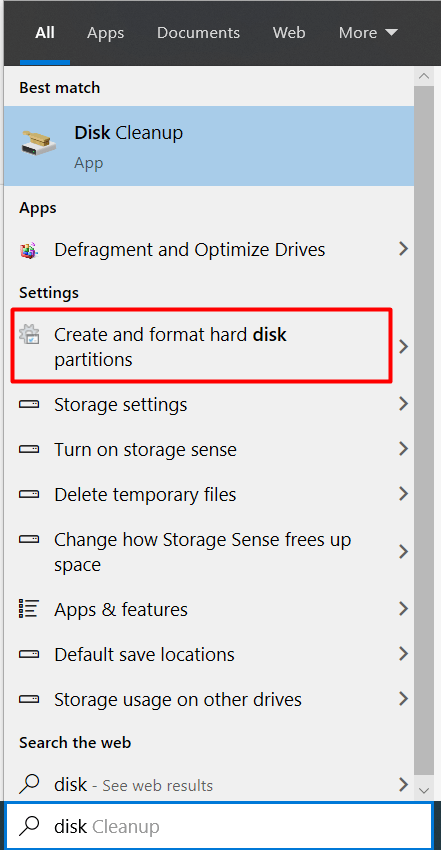 17 Cleaning up the disk in Windows 10
