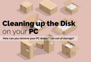 Cleaning up the disk in Windows 10