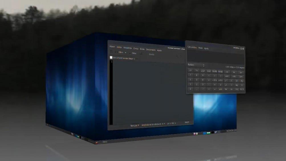 Linux mint  3D desktop solid shape