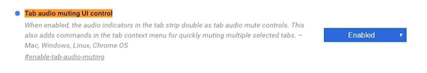 Tab audio muting UI control