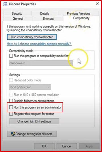 To fix Discord Screen Share No Audio Set discord run as an administrator