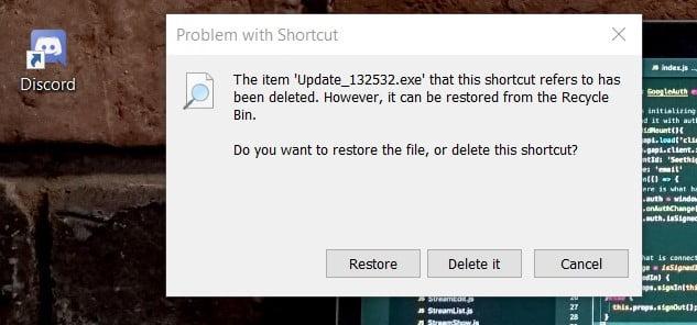 restore after delete update file