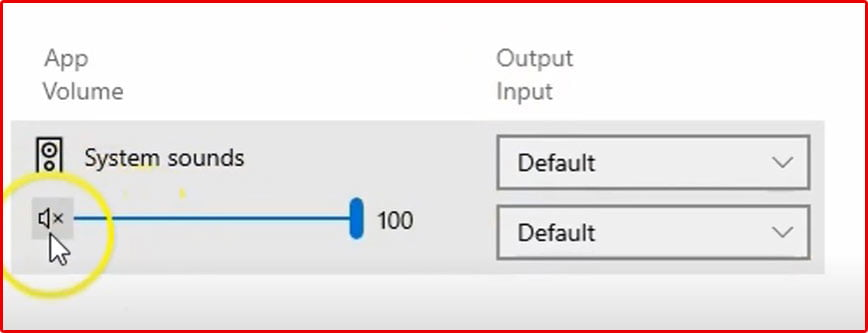 unmute the App Volume
