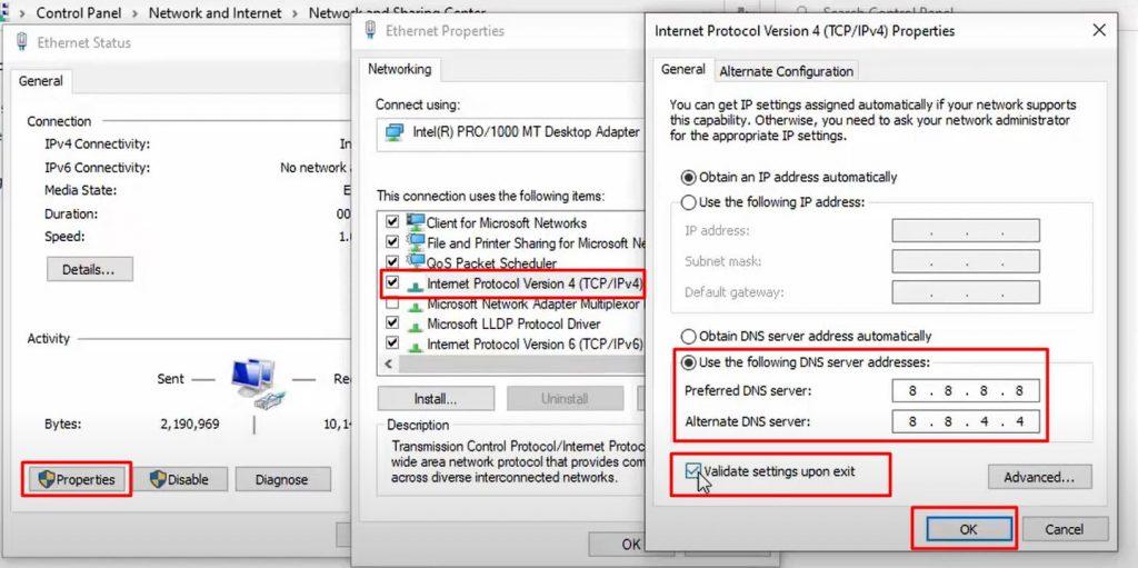 Change your DNS server addresses