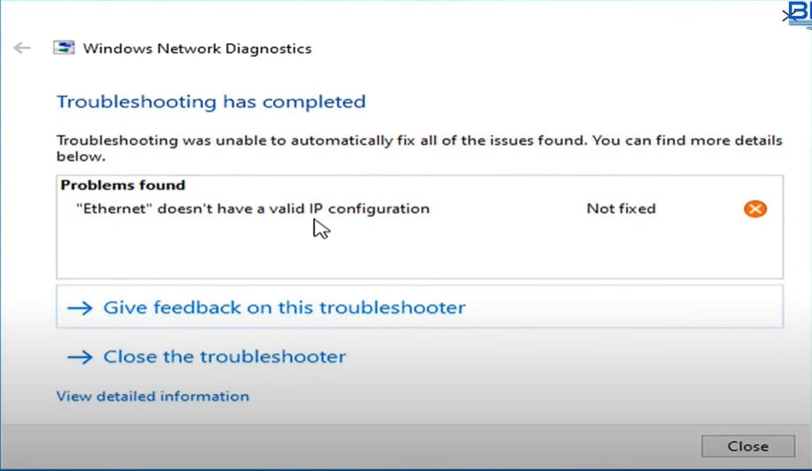 Fix Ethernet Doesn't Have A Valid IP Configuration in Windows