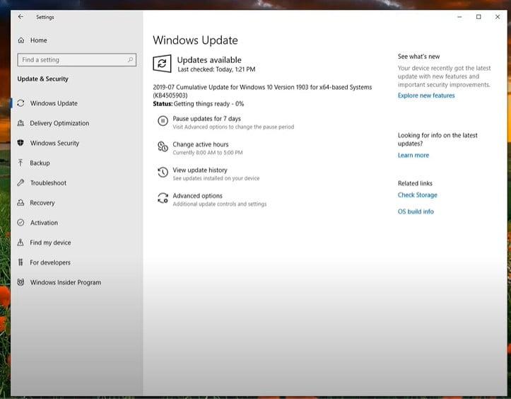 Run the Windows Update