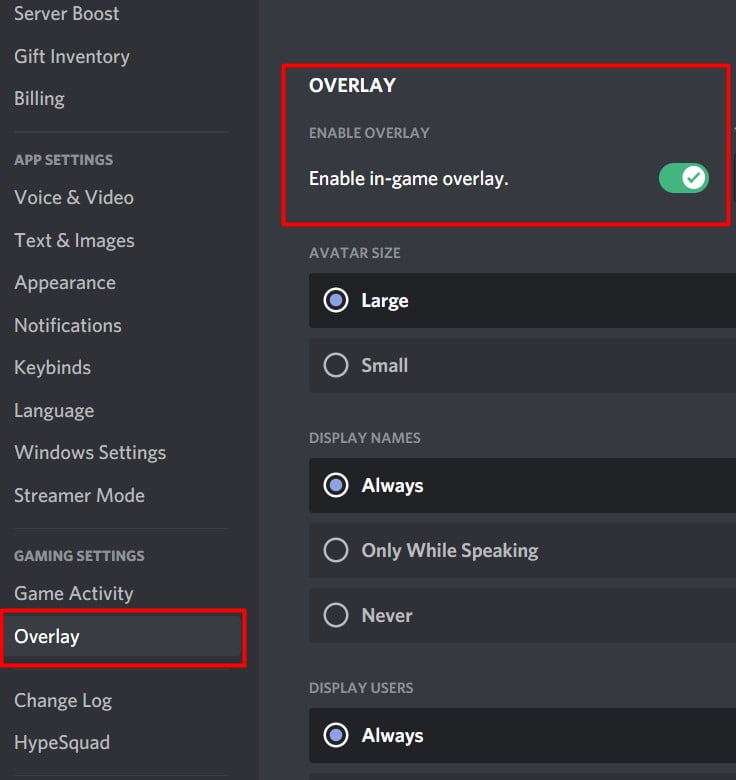 """2nd, Then you need to head toward your Overlay setting. presently to ensure that your overlay is working. The initial step you need to do is? ensure that the """"Enable In-game overlay"""" option is switched On."""