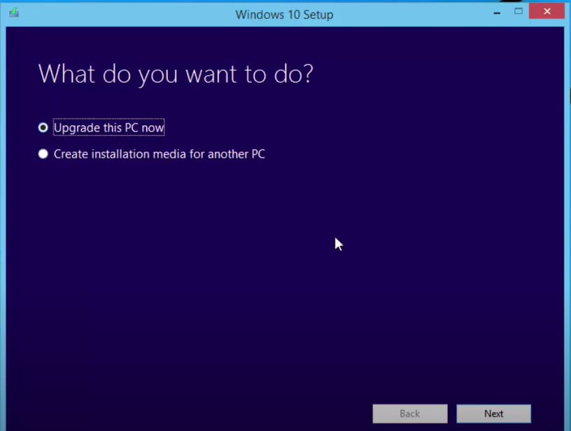 upgrade the pc to solve the Modern Setup Host