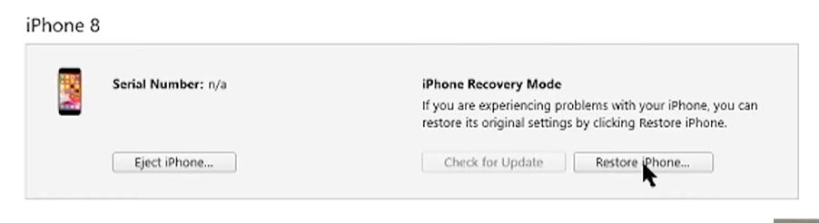 Restore iPhone via iTune
