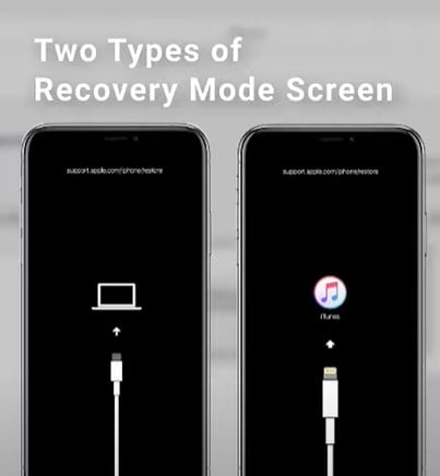 Two Type of Recovery Mode Screen