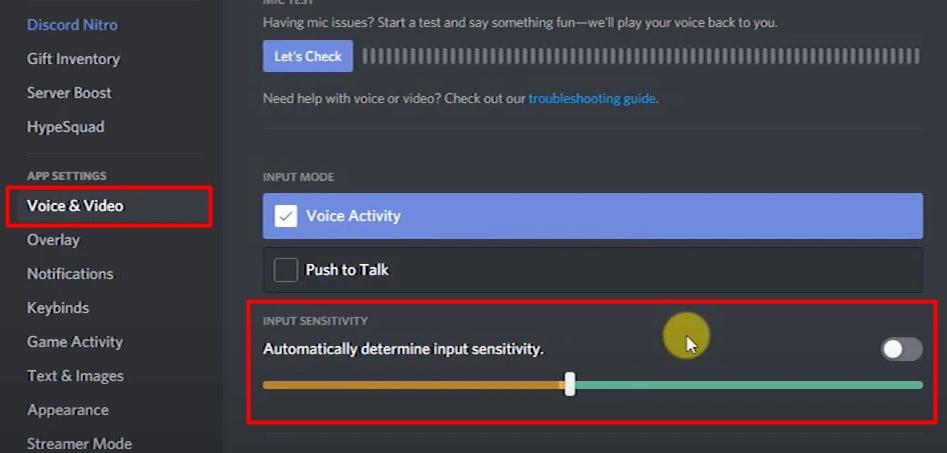 check autometically determine input sensitivity