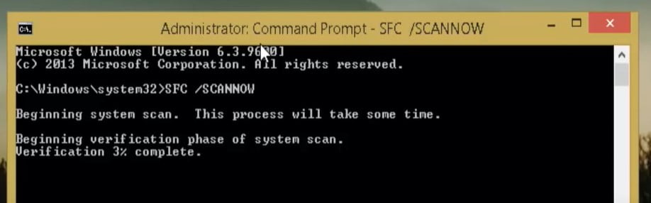 Run SFC scan to recover corrupted files
