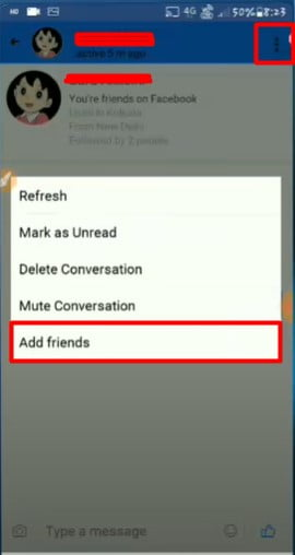 tap on three dots and Add friends
