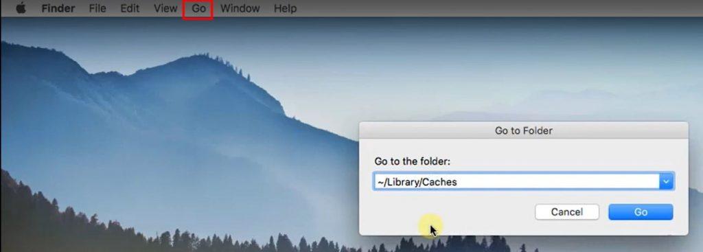 Go to Cache folder for mac
