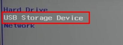 Select USB Storage Device