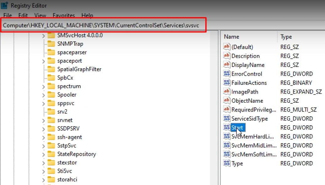 go SVSVC folder to Remove Activate Windows 11 Watermark