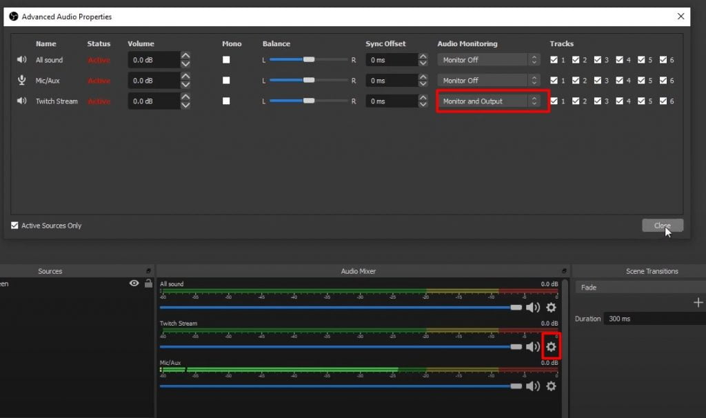 Change Twitch Stram to Monitor and output