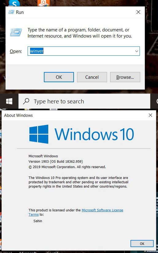 Run winvar and check your current OS is windows 10