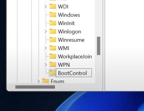 Named this folder BootControl