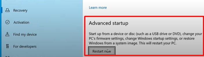 Start Up from a Bootable device