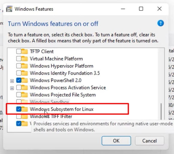 Disable Windows Subsystem for Linux