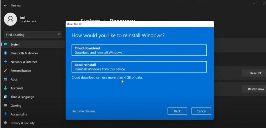 Reset Pc Through Cloud download