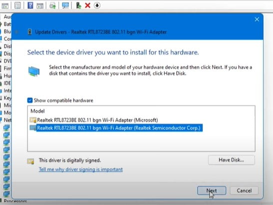 UPDATE Driver from Device Manager