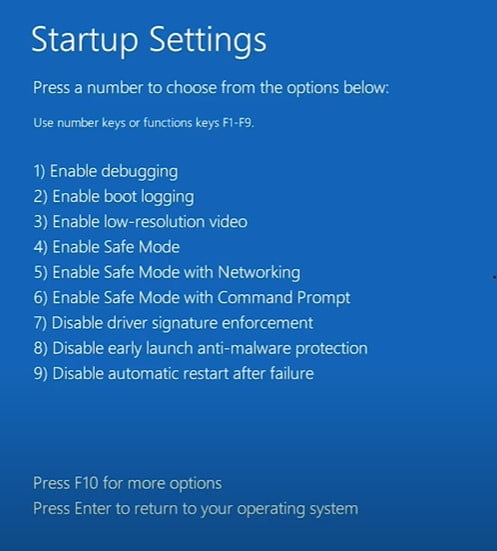 press 4 or 5 to boot with safe mood restart to fix  Windows 11 Black screen of death, Bootloop, Infinite Loading