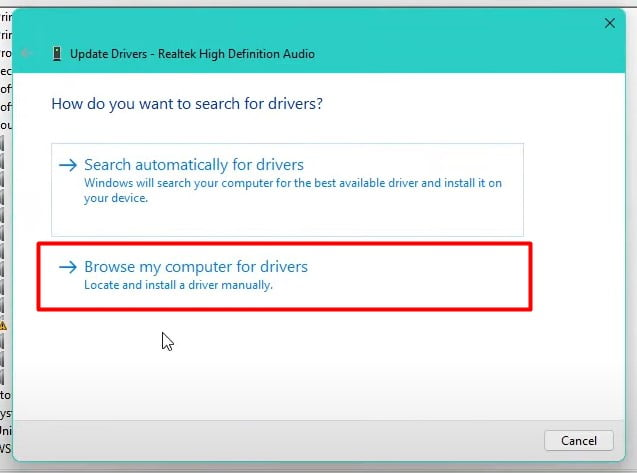 right-click on it and select Update Driver and select Browse my computer