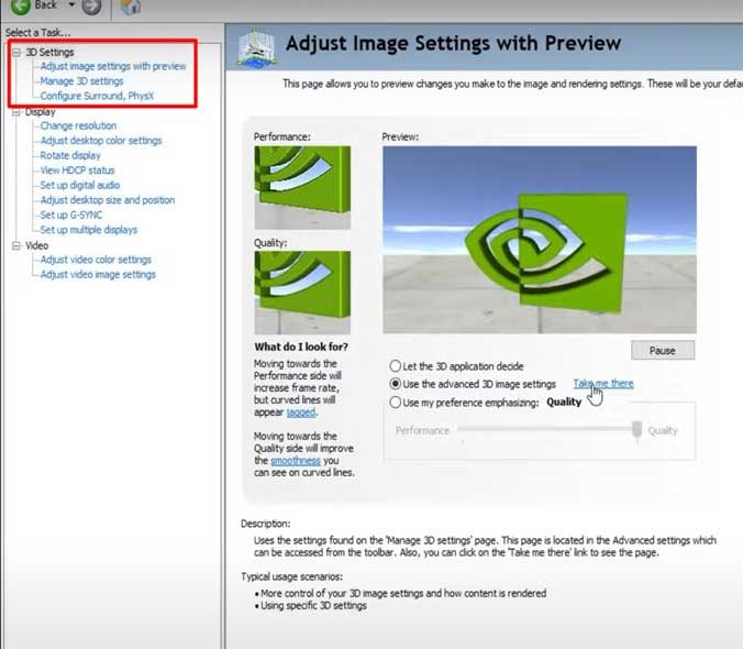 Adjust Image Setting with preview