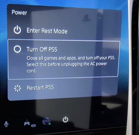 Restart PS5 TO Fix PS5 Error Code CE-10005-6